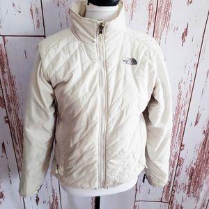 Women's North Face Medium White Puffer Jacket Coat